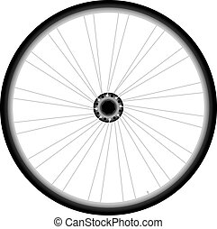Bike wheel - vector on white background