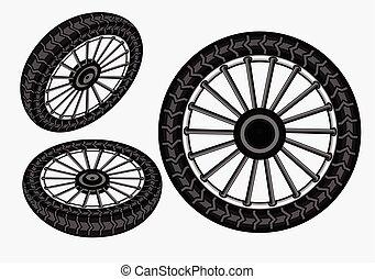 Bike Wheels Vector Illustration