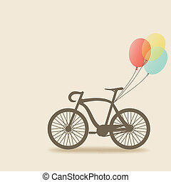 bike with balloons