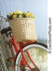 Bike with flowers.
