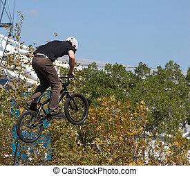 Biker Airborne