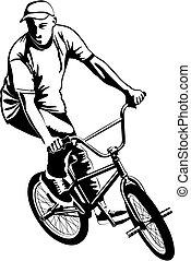 biker, bmx