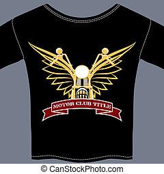 biker, camiseta