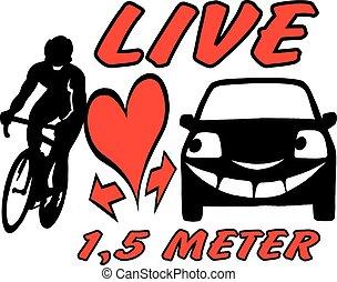biker, car, ciente, ser