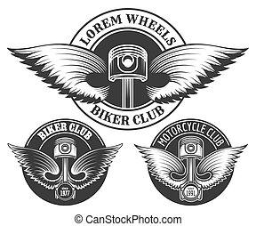 Biker Club Emblem Set