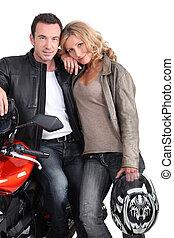 Biker couple.