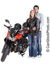 Biker couple