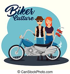 biker culture background