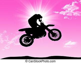 Biker in the sun