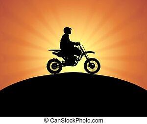 biker, motor