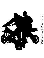 Biker on motorcycle five
