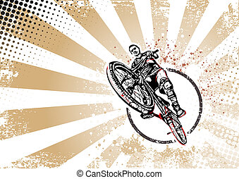 biker retro poster background