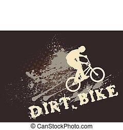 biker, salpicadura