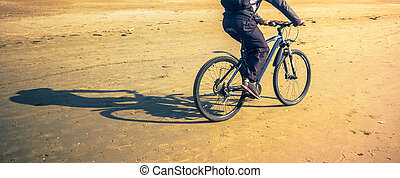biker, sand