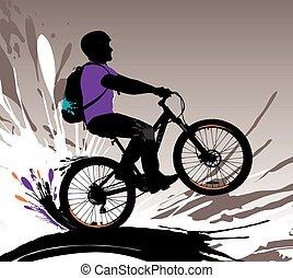 Biker silhouette.
