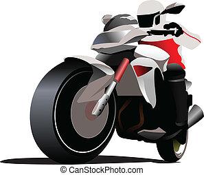 biker., vettore, illustrazione