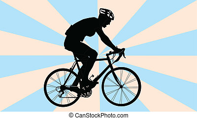 biker with background - vector