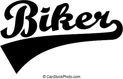 Biker word retro