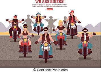 Bikers Background Illustration