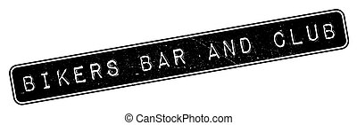 Bikers Bar And Club rubber stamp