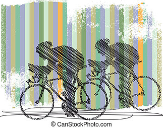 bikers illustration