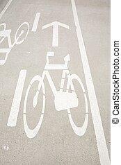 bikers lane sign