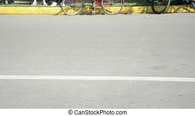 bikers motorcycle in the street