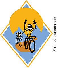 Bikers racing clip art