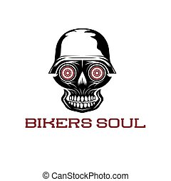 bikers soul concept with skull