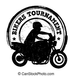 Bikers tournament stamp