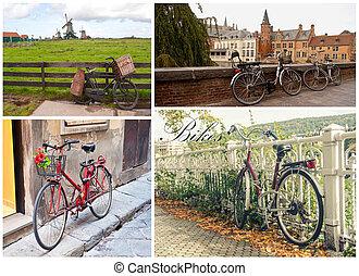 Bikes collage