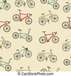 Bikes seamless pattern.