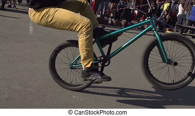 Biking BMX - Competition among professionals and fans of...