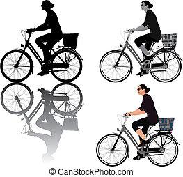 biking, dama