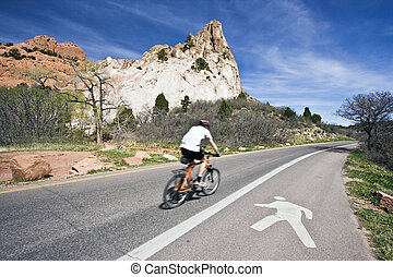 Biking Garden of the Gods - Colorado Springs