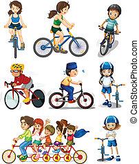 biking, gente