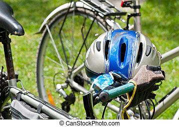 biking, helm