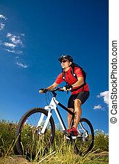 biking, hombre