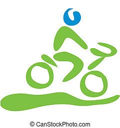Biking symbol - Transportation symbol biking