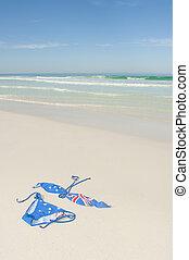 Bikini at tropical beach holiday destination