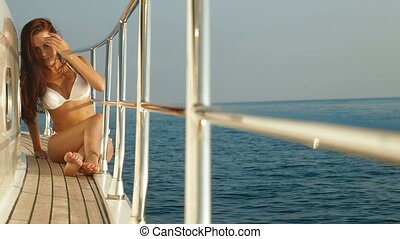 Bikini Beauty on Luxury Yacht