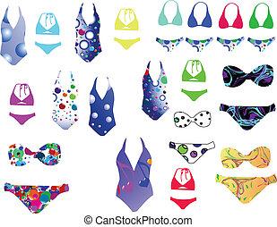 Bikini collection - vector