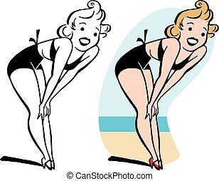 bikini, donna