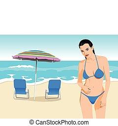 bikini, dziewczyna