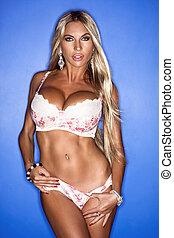 Bikini Fashion Model - Bikini Fashion Model. Isolated on...