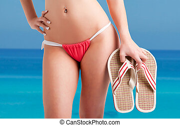 bikini, femme