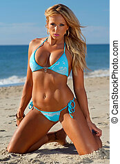 Bikini girl - Beautiful beach bikini girl