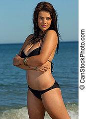 Bikini girl - Beautiful beach bikini girl