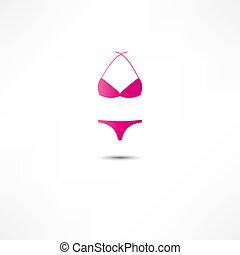 bikini, ikona