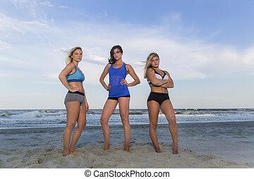 Bikini Models At The Beach